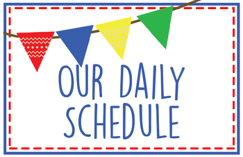 Daily Schedule in Primary Colors {Editable}