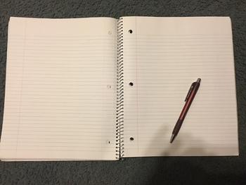 Daily Schedule in Smart Notebook