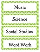 Daily Schedule labels with Chevron Border