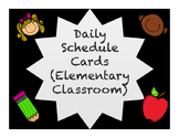 Daily Schedule with Black Background