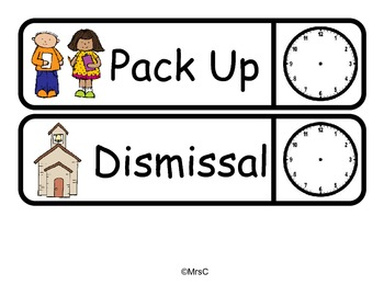 Daily Schedule with Clocks