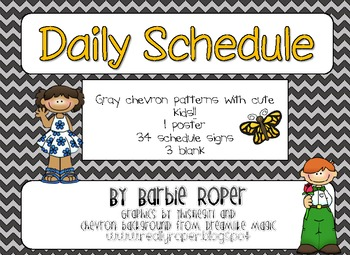 Daily Schedule with Gray Chevron