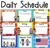 Daily Schedule with Learning Targets