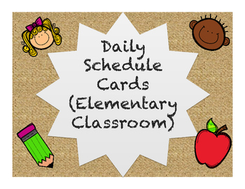 Daily Schedule with Natural Background