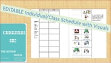 Daily Schedule with Visuals-Autism-Individual-Class-Editable