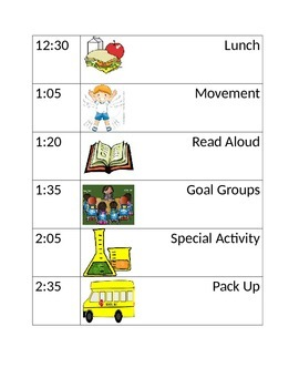 Daily Schedules- Special Education