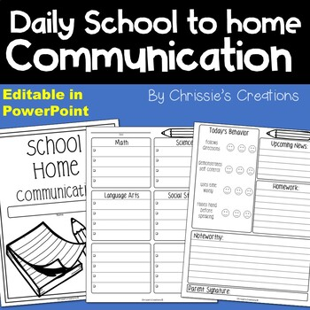 Daily School to Home Communication
