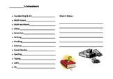 Daily Schoolwork Planning Pages - 3 Levels