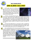 Daily Science #31 : Are Aliens Calling (article / questions / chart / key)