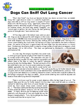 Daily Science #48 : Dogs Can Sniff Cancer (article / questions / key / warm-up)
