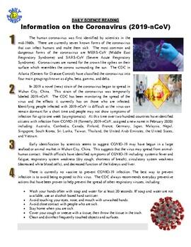 Daily Science #97 : Coronavirus 2019-nCoV FAQ (health article / questions / key)