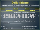 Daily Science- Forces (5 Daily Sciences)