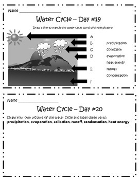 Daily Science Morning Work: WATER CYCLE for 5 Weeks