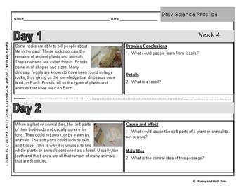 Daily Science Practice (Grade 5:  September Full Month)