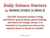 Daily Science Starters