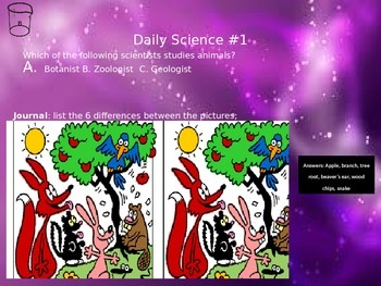 Daily Science Walk In Bell Work Preview