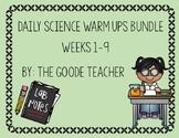 Daily Science Warm Up Weeks 1-9 Bundle