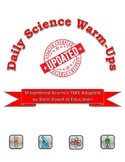 UPDATED with Streamlined TEKS: Daily Science Warm-Ups