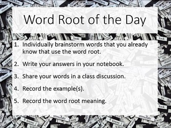 Daily Science Word Roots