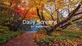 Daily Screens for September