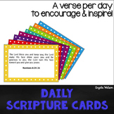 Daily Scripture Cards for Teachers: A verse a day to encourage and inspire