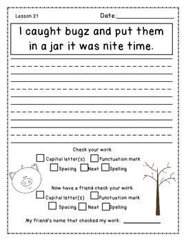 Daily Sentence Edit Book: First Grade Journeys Unit 5: Bee an Editor!