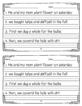 Daily Sentence Editing {April Edition}