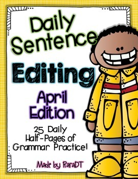 Daily Sentence Editing {April Edition}