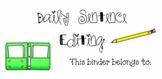 Daily Sentence Editing Binder Label