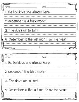 Daily Sentence Editing {December Edition}