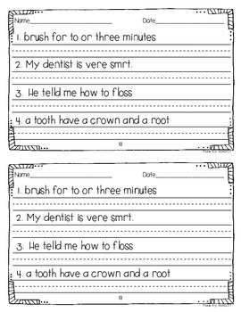 Daily Sentence Editing {February Edition}