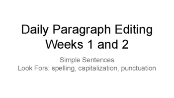 Daily Sentence Editing Free Sample
