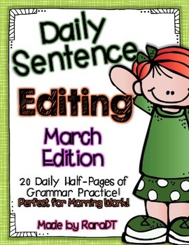 Daily Sentence Editing {March Edition}