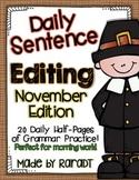 Daily Sentence Editing {November Edition}