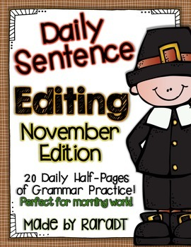 Daily Sentence Editing {November Edition}