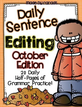 Daily Sentence Editing {October Edition}