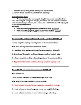 Daily Sentence Editing Quiz Units 8-10