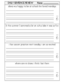 Daily Sentence Review