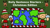Daily Sentence Starters - Christmas Edition