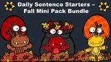 Daily Sentence Starters - Fall Mini Pack Bundle