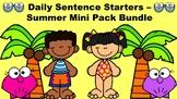 Daily Sentence Starters - Summer Mini Pack Bundle