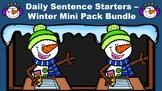 Daily Sentence Starters - Winter Mini Pack Bundle