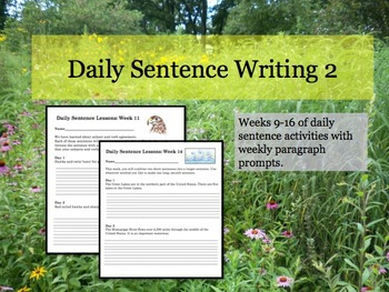 Daily Sentence Writing 2