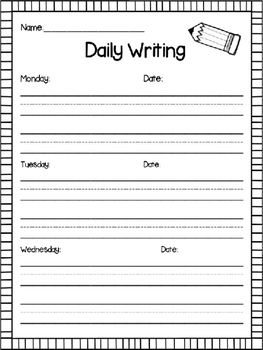 Daily Sentence Writing