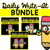 Daily Sentence Writing Practice BUNDLE: Sentence Writing A