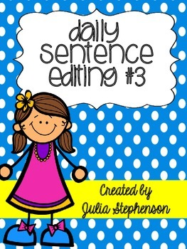 Daily Sentence/Paragraph Editing- Set 3