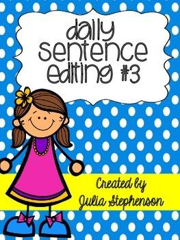 Daily Sentence/Paragraph Editing- Set 3