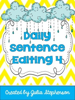 Daily Sentence/Paragraph Editing- Set 4