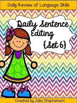 Daily Sentence/Paragraph Editing- Set 6