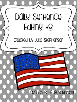 Daily Sentence/Paragraph Editing- Set 8